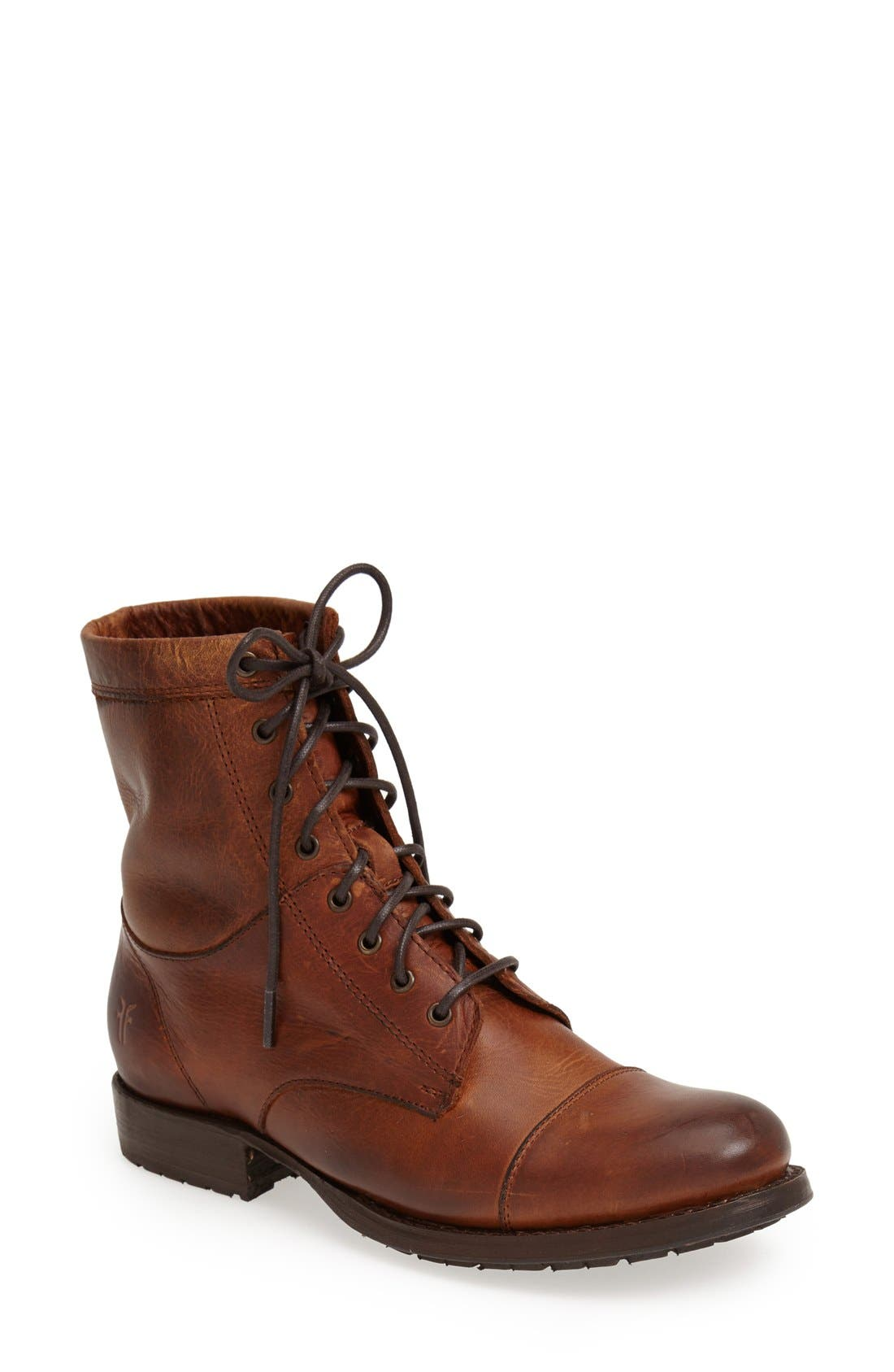 Alternate Image 1 Selected - Frye 'Erin' Cap Toe Leather Lace-Up Boot (Women)