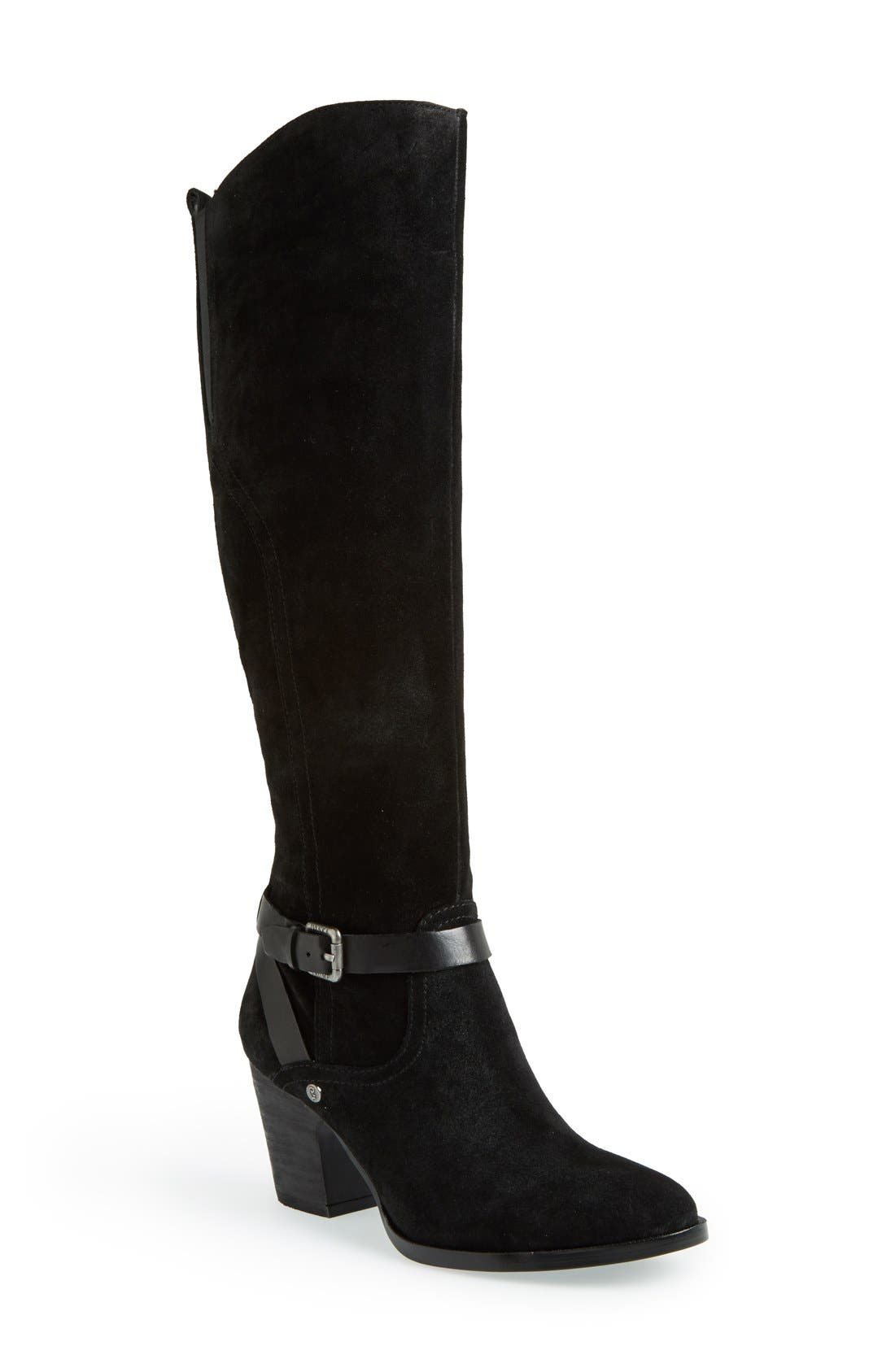 Alternate Image 1 Selected - Ivanka Trump 'Tarrilyn' Knee High Suede Boot (Women)