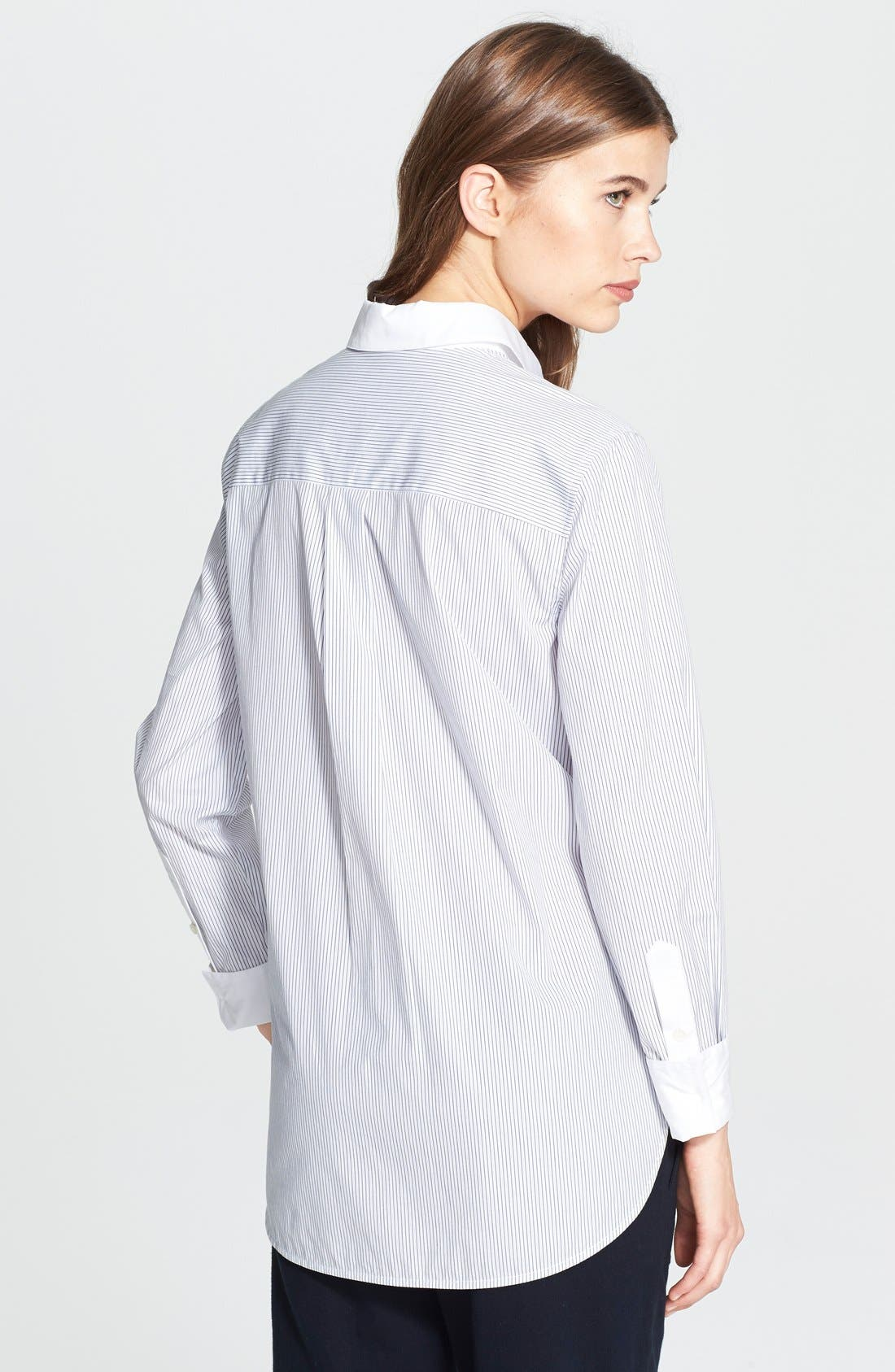 Alternate Image 2  - Vince Mixed Shirting Button Up Blouse