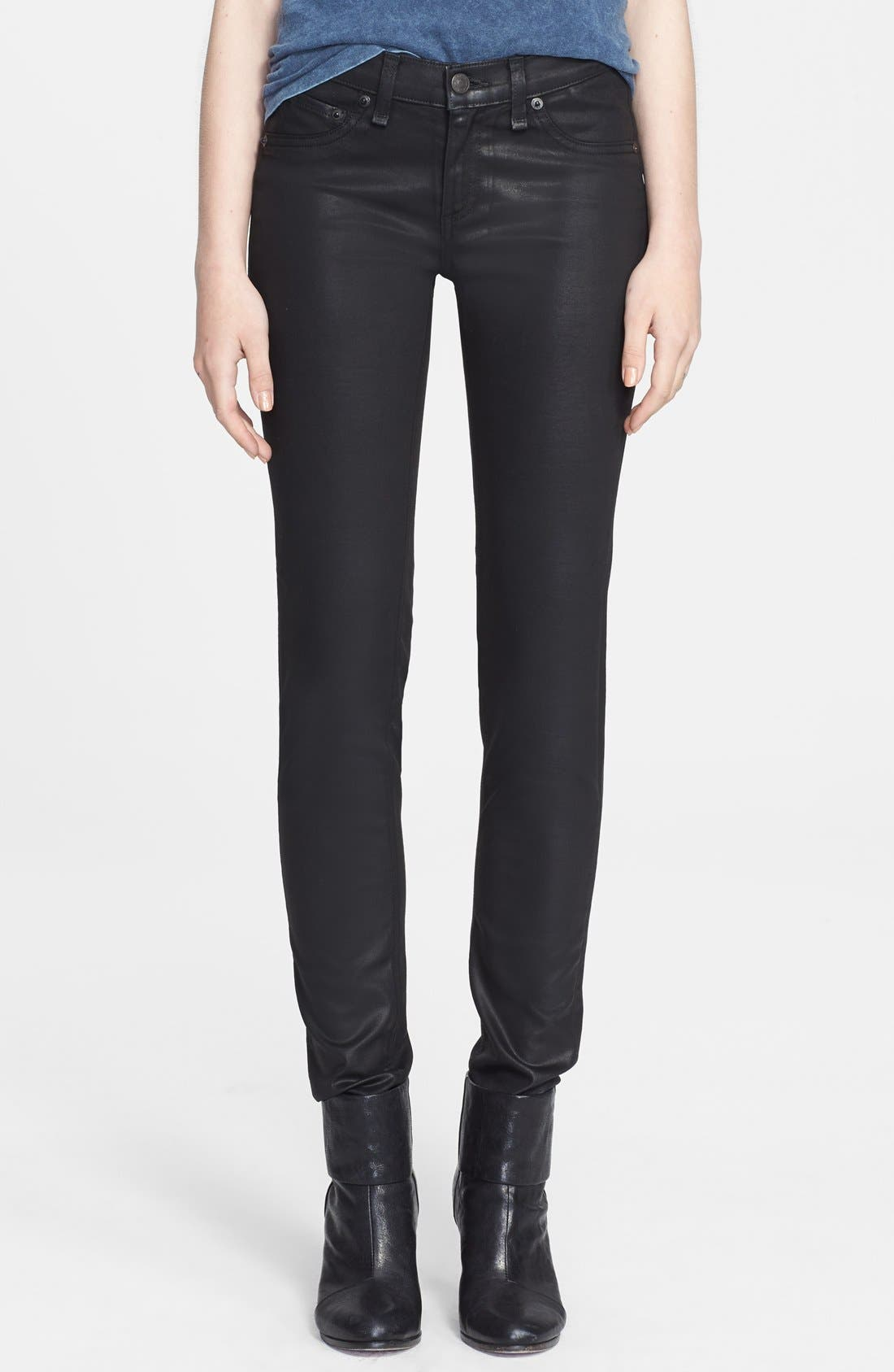Alternate Image 1 Selected - rag & bone/JEAN 'The Danny' Coated Leggings