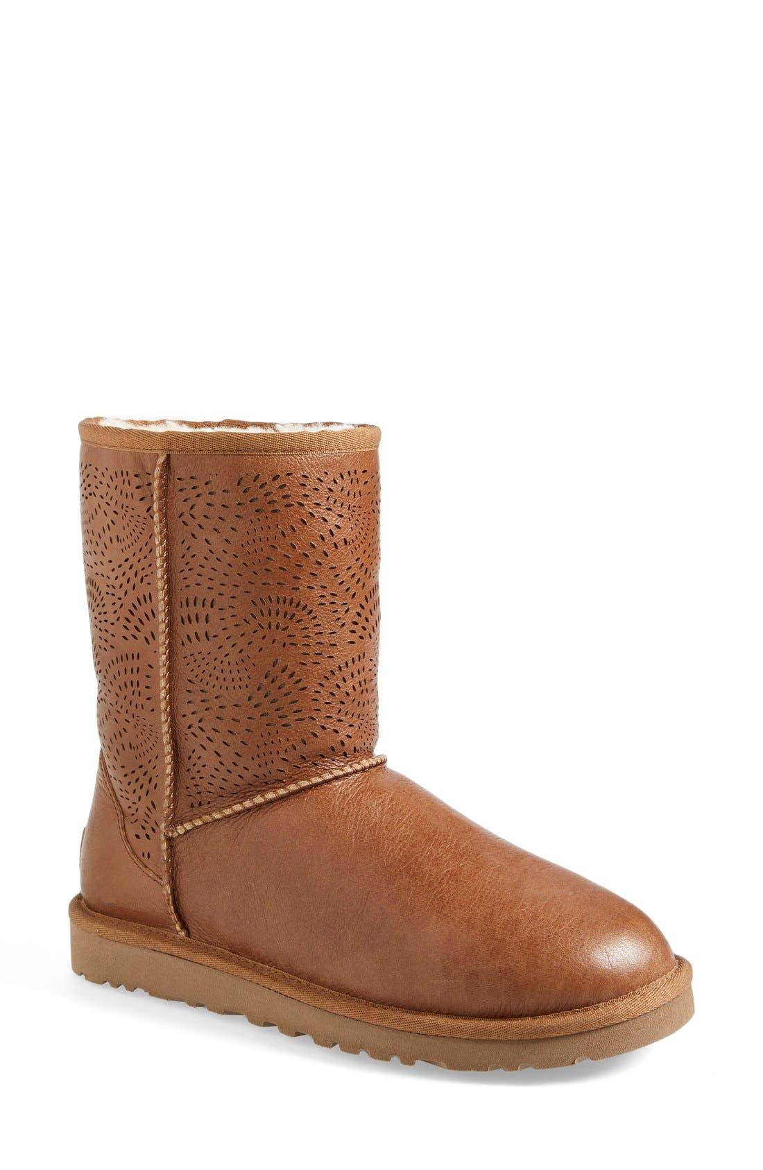 Alternate Image 1 Selected - UGG® Australia 'Triana' Perforated Boot (Women)