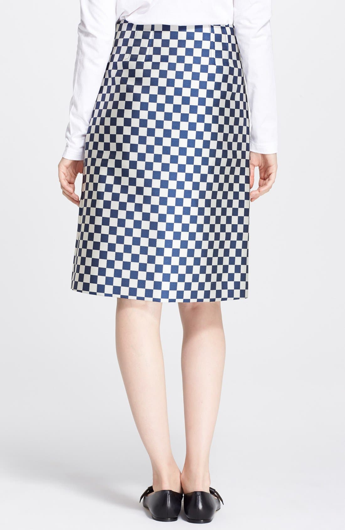 Alternate Image 2  - MARC BY MARC JACOBS Check A-Line Skirt