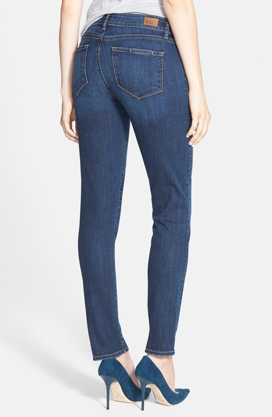 Alternate Image 2  - Paige Denim 'Skyline' Ankle Peg Skinny Jeans (Lyric Deconstructed)