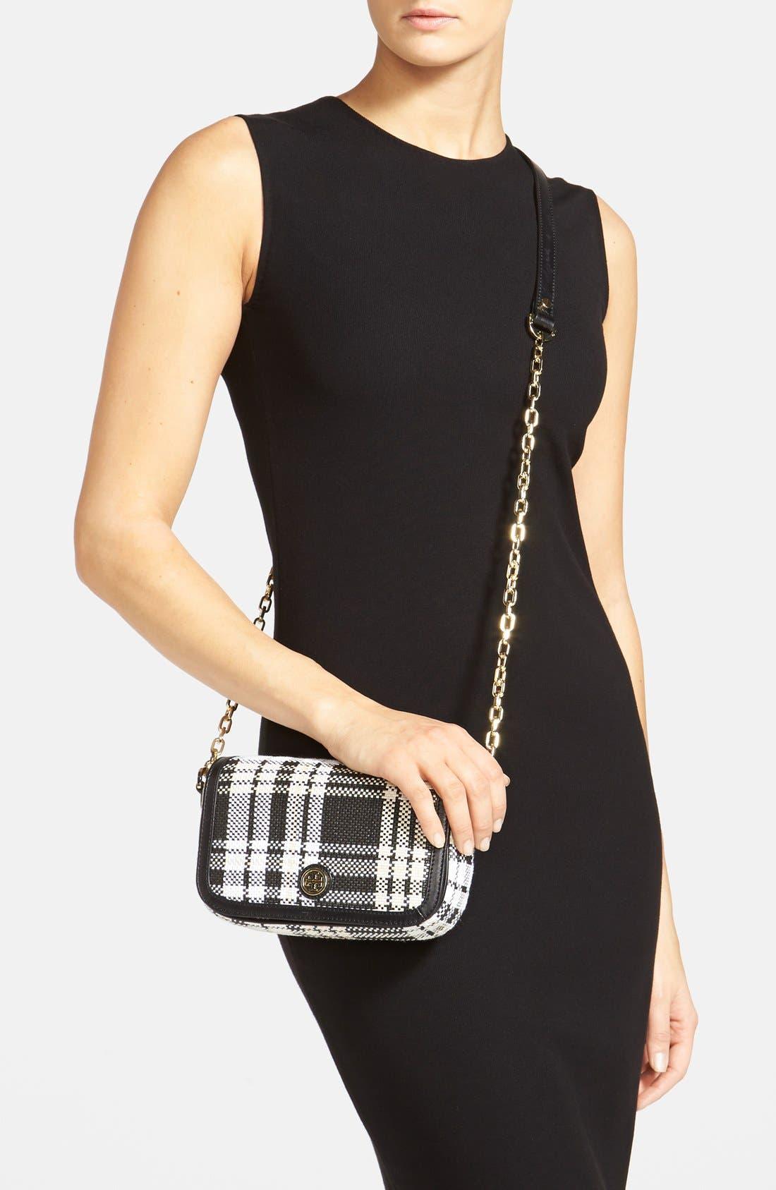 Alternate Image 2  - Tory Burch 'Mini Robinson Plaid' Crossbody Bag