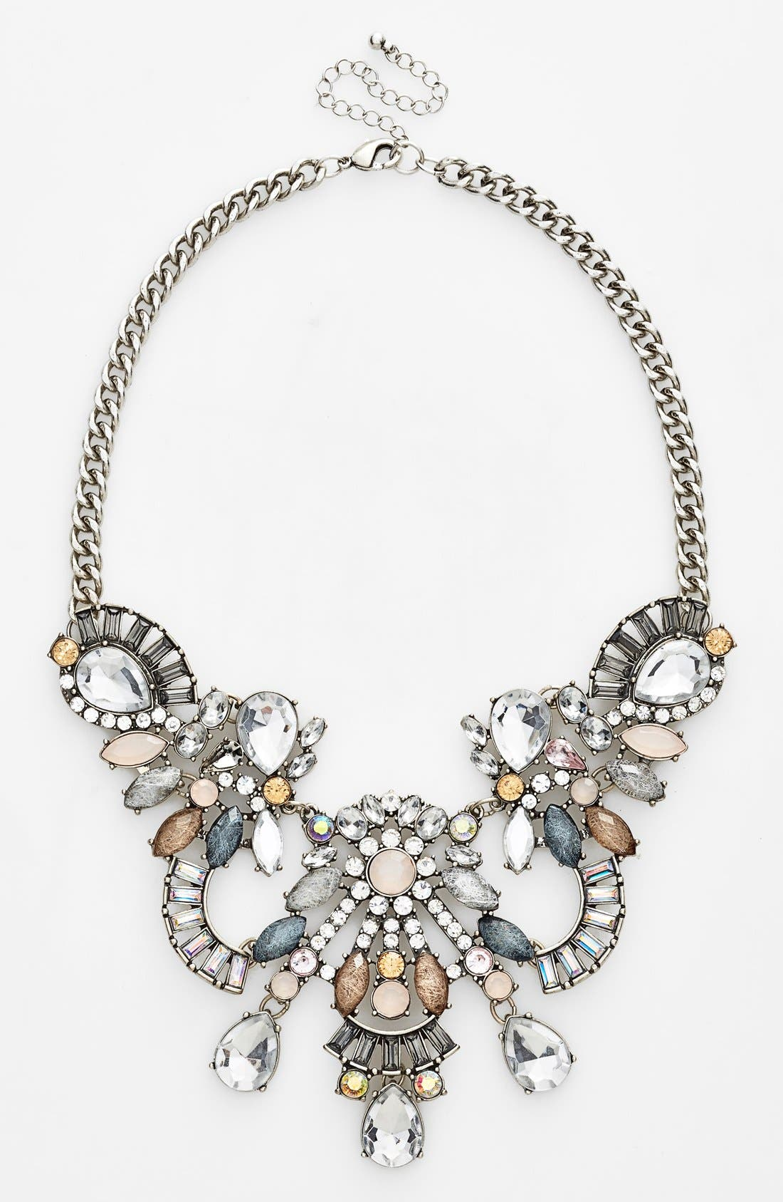 Alternate Image 1 Selected - Tildon Crystal & Stone Statement Necklace