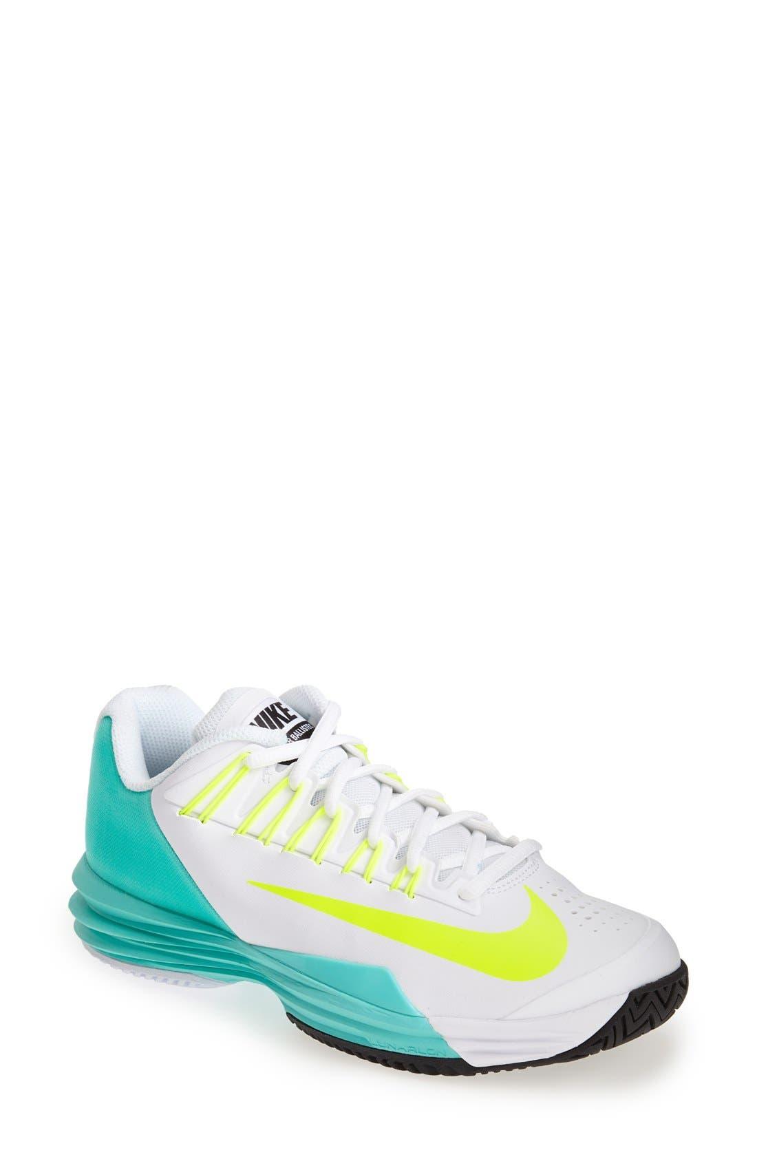 Alternate Image 1 Selected - Nike 'Lunar Ballistec' Tennis Shoe (Women)