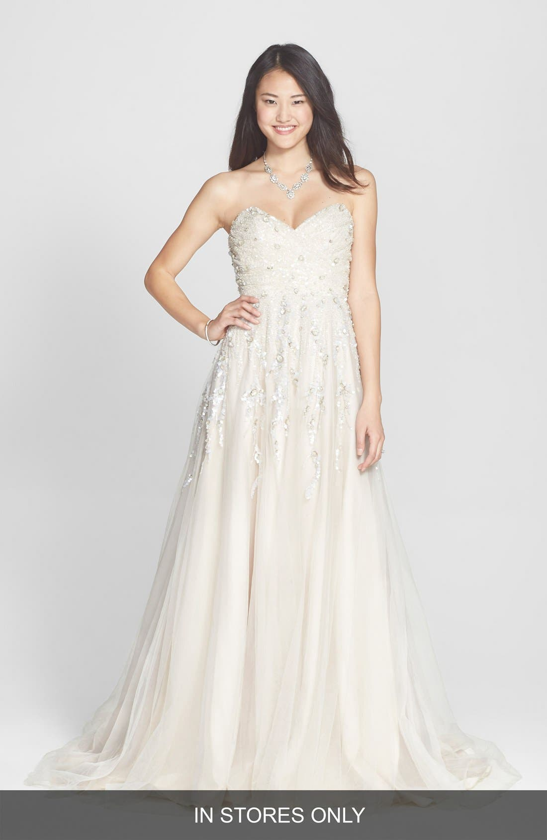 HAYLEY PAIGE 'Star' Embellished Tulle A-Line Dress