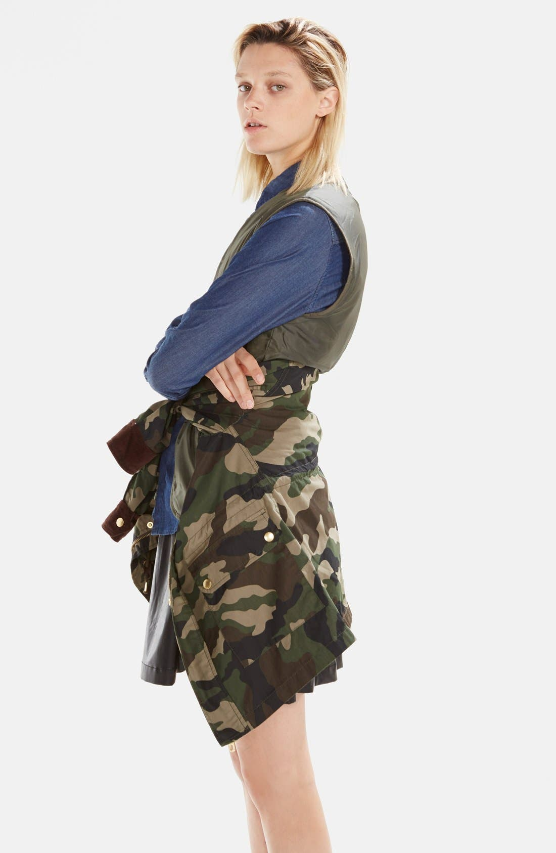 Alternate Image 4  - izzue Hooded Camouflage Jacket (Women)