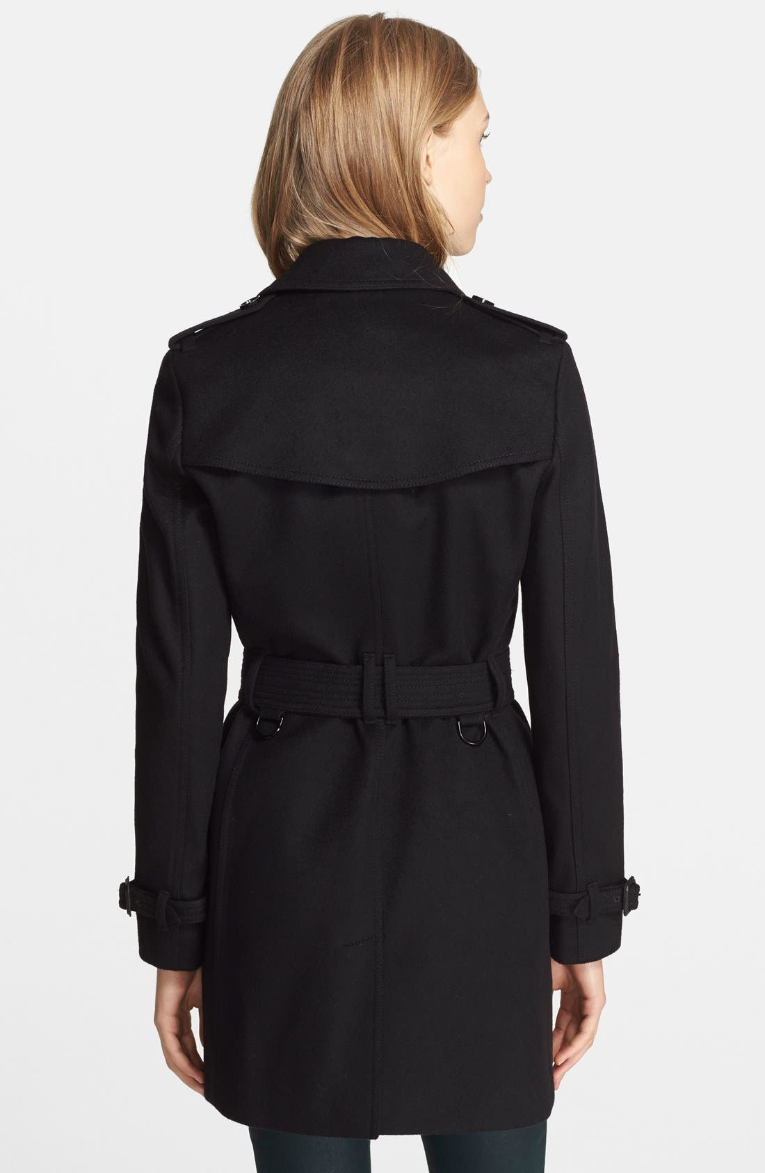 Alternate Image 2  - Burberry London 'Kensington' Double Breasted Trench Coat
