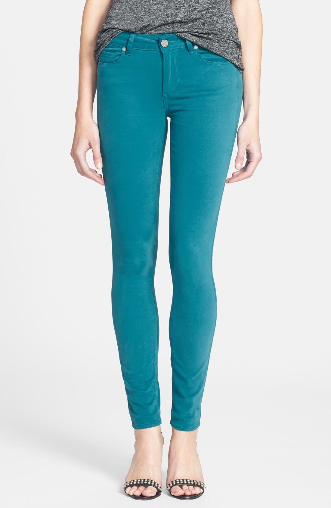 Alternate Image 1 Selected - Paige Denim 'Verdugo' Ultra Skinny Jeans (Deep Turquoise)