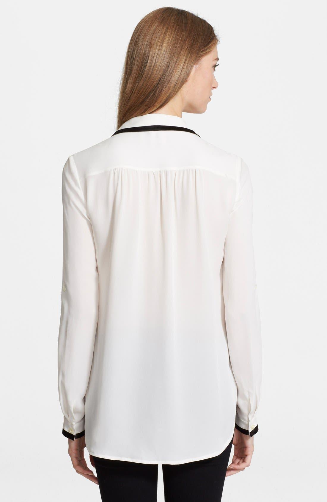 Alternate Image 2  - Diane von Furstenberg 'Quiana' Silk Blouse