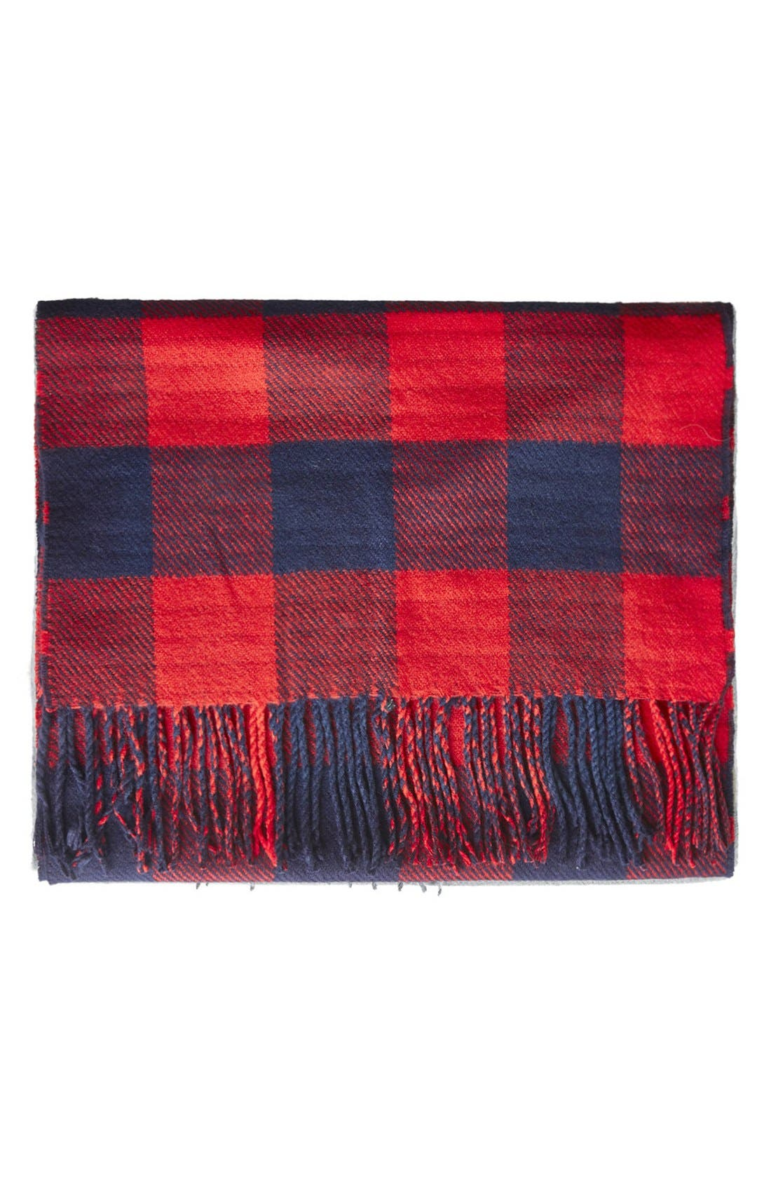 Main Image - Topshop Double Face Gingham Scarf