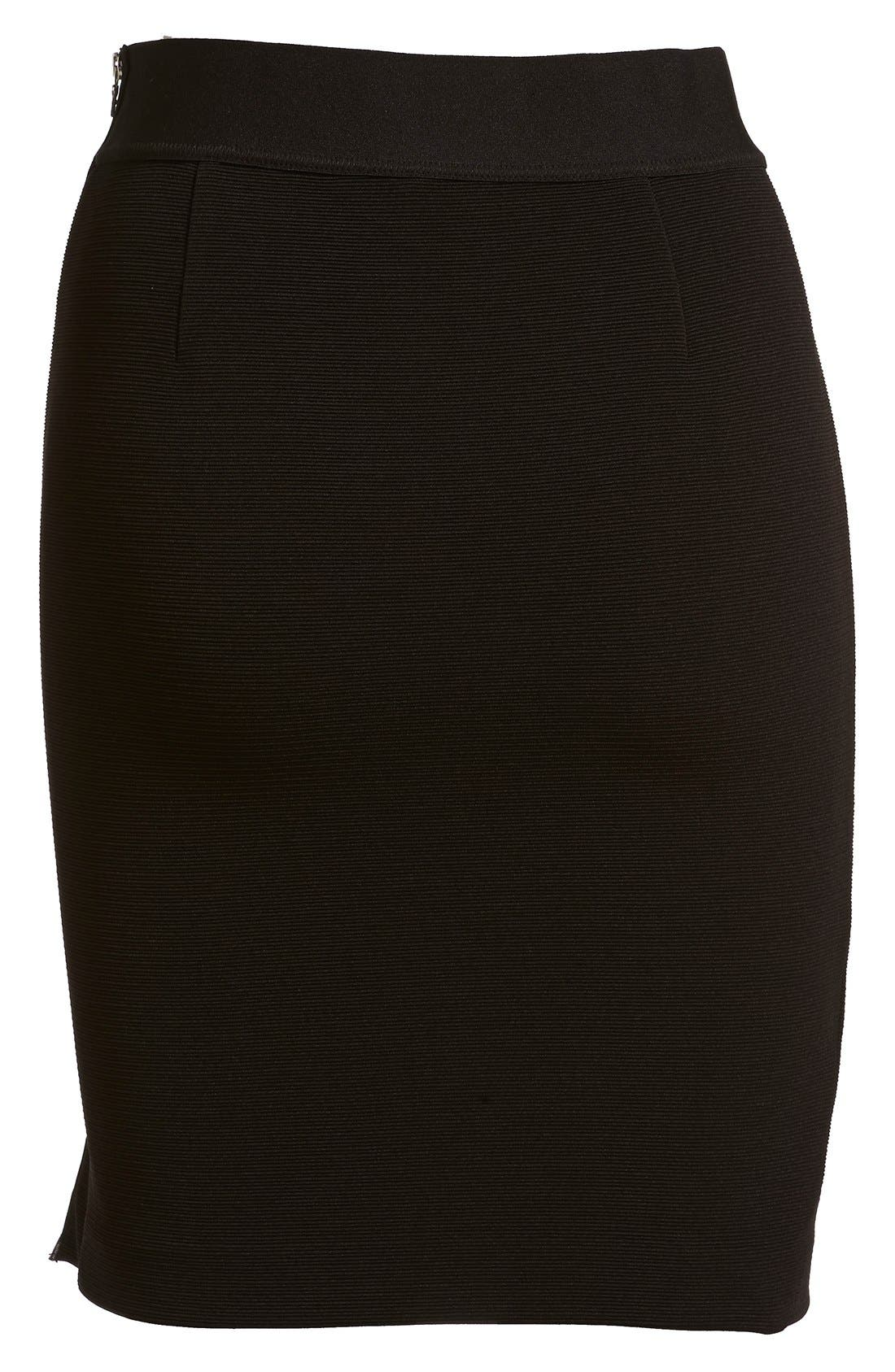 Alternate Image 6  - izzue Side Zip Ottoman Rib Skirt (Women)