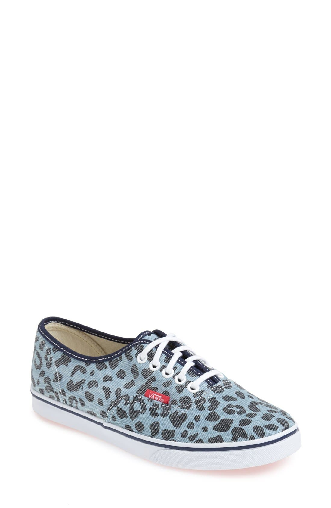 Alternate Image 1 Selected - Vans 'Authentic - Lo Pro' Leopard Print Sneaker (Women)