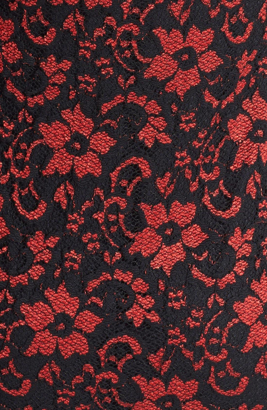 Alternate Image 3  - Karen Kane Scallop Lace Dress