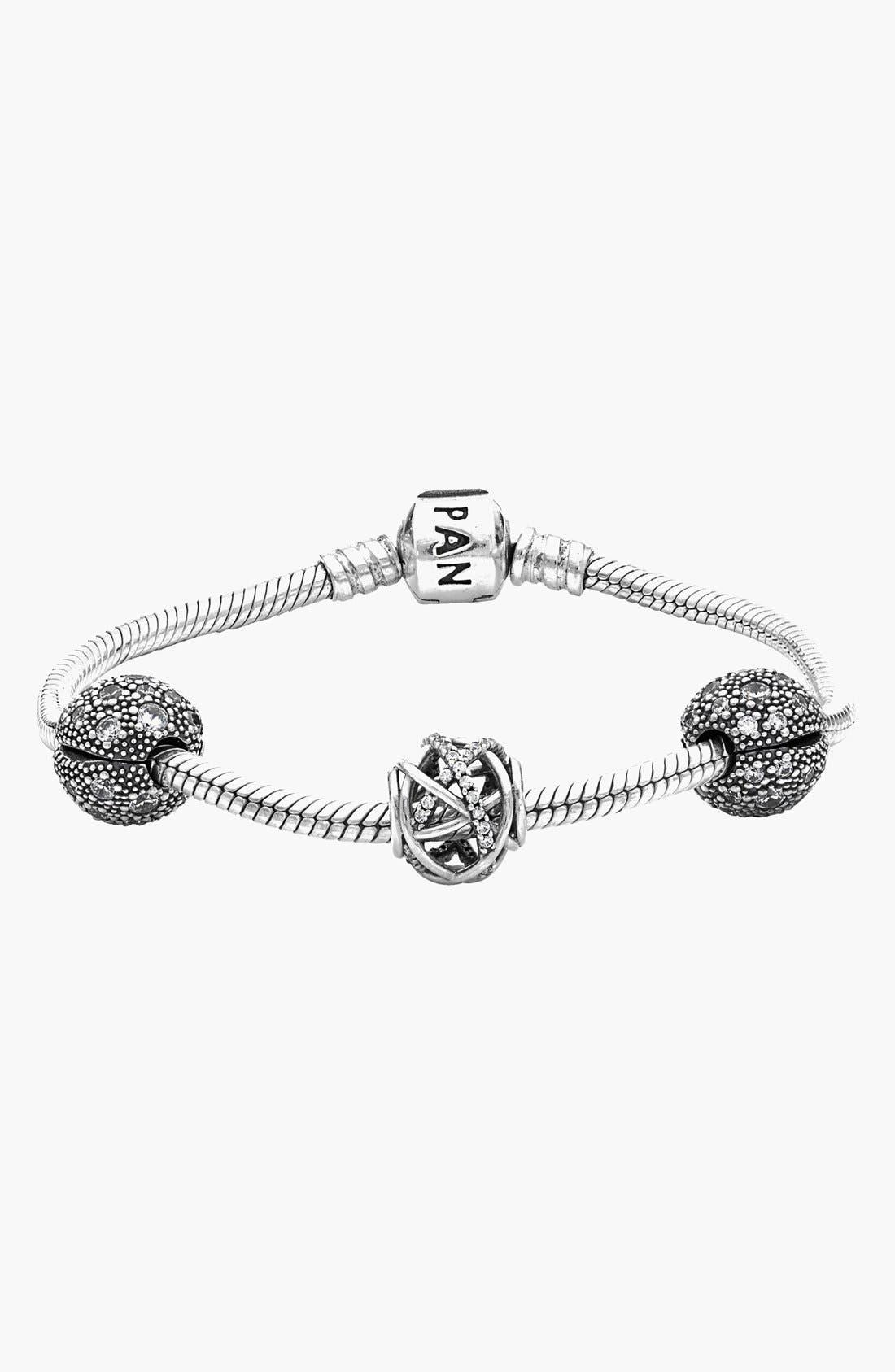 Alternate Image 1 Selected - PANDORA 'Stargazer' Bracelet and Charms