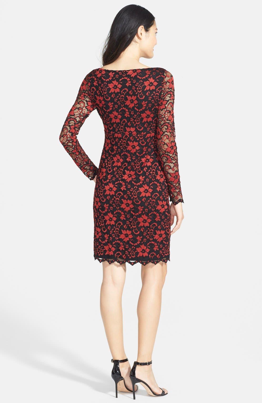 Alternate Image 2  - Karen Kane Scallop Lace Dress