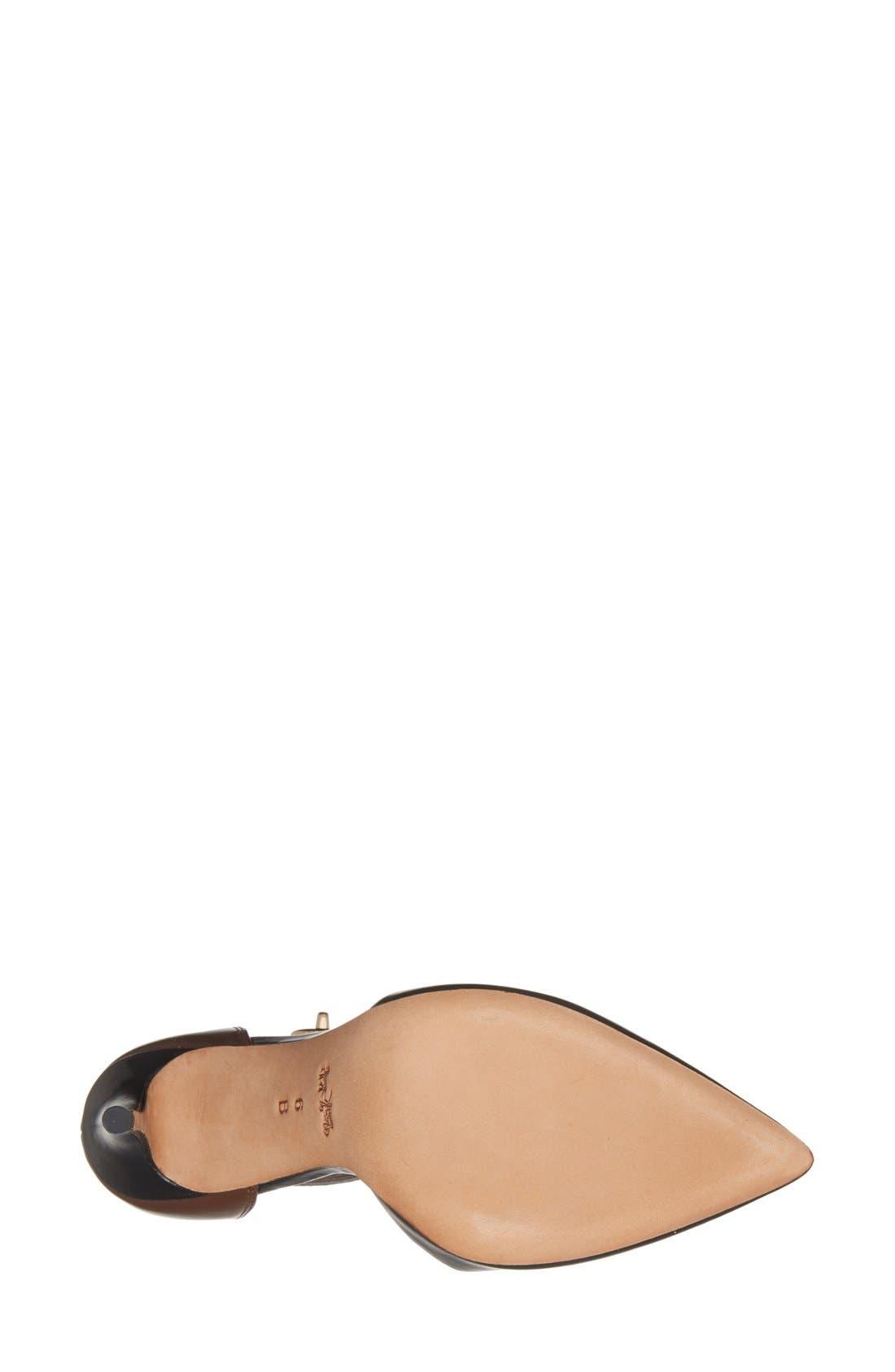 Alternate Image 4  - COACH 'Houston' Two-Tone Leather Ankle Strap Pump (Women)
