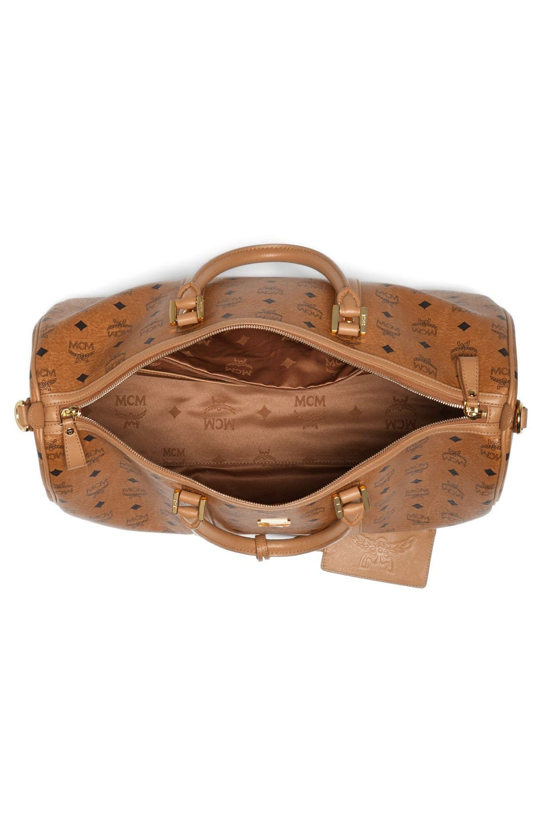 Alternate Image 3  - MCM 'Large Heritage' Coated Canvas Weekend Duffel Bag