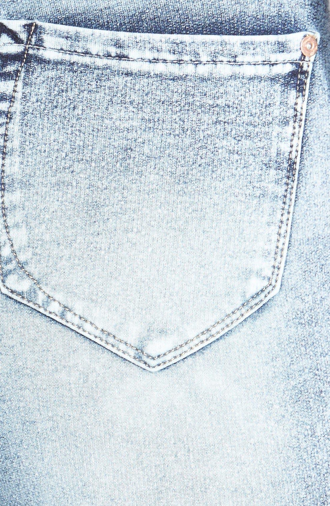Alternate Image 3  - kensie 'Ankle Biter' Acid Wash French Terry Skinny Jeans (Grey Acid)