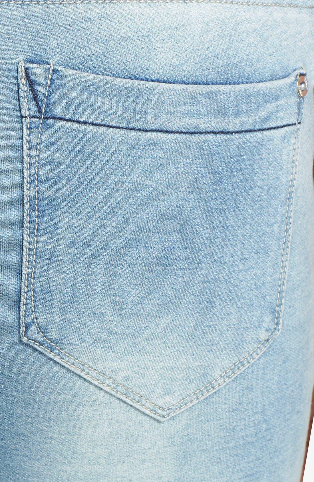 Alternate Image 3  - kensie Knit Denim Overalls