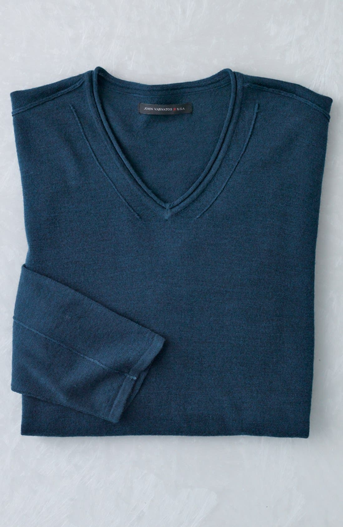 Alternate Image 4  - John Varvatos Star USA V-Neck Sweater
