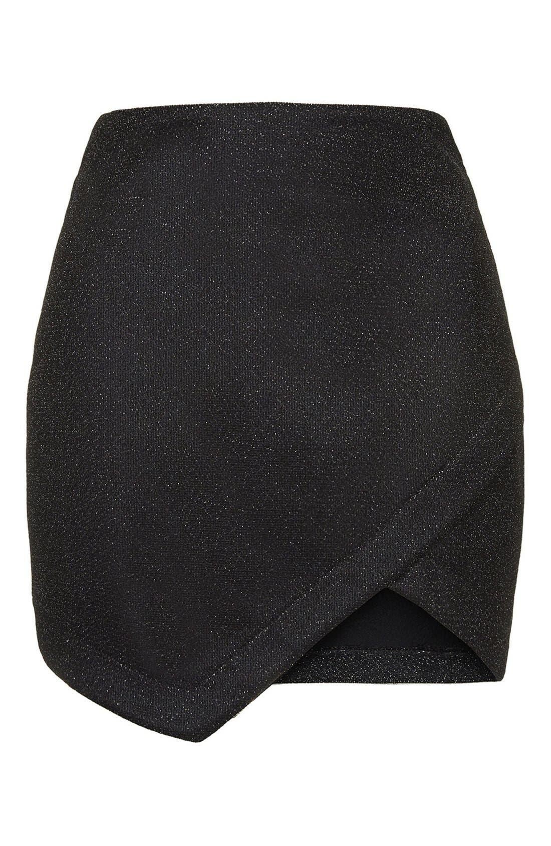 Alternate Image 3  - Topshop Tinsel Wrap Miniskirt