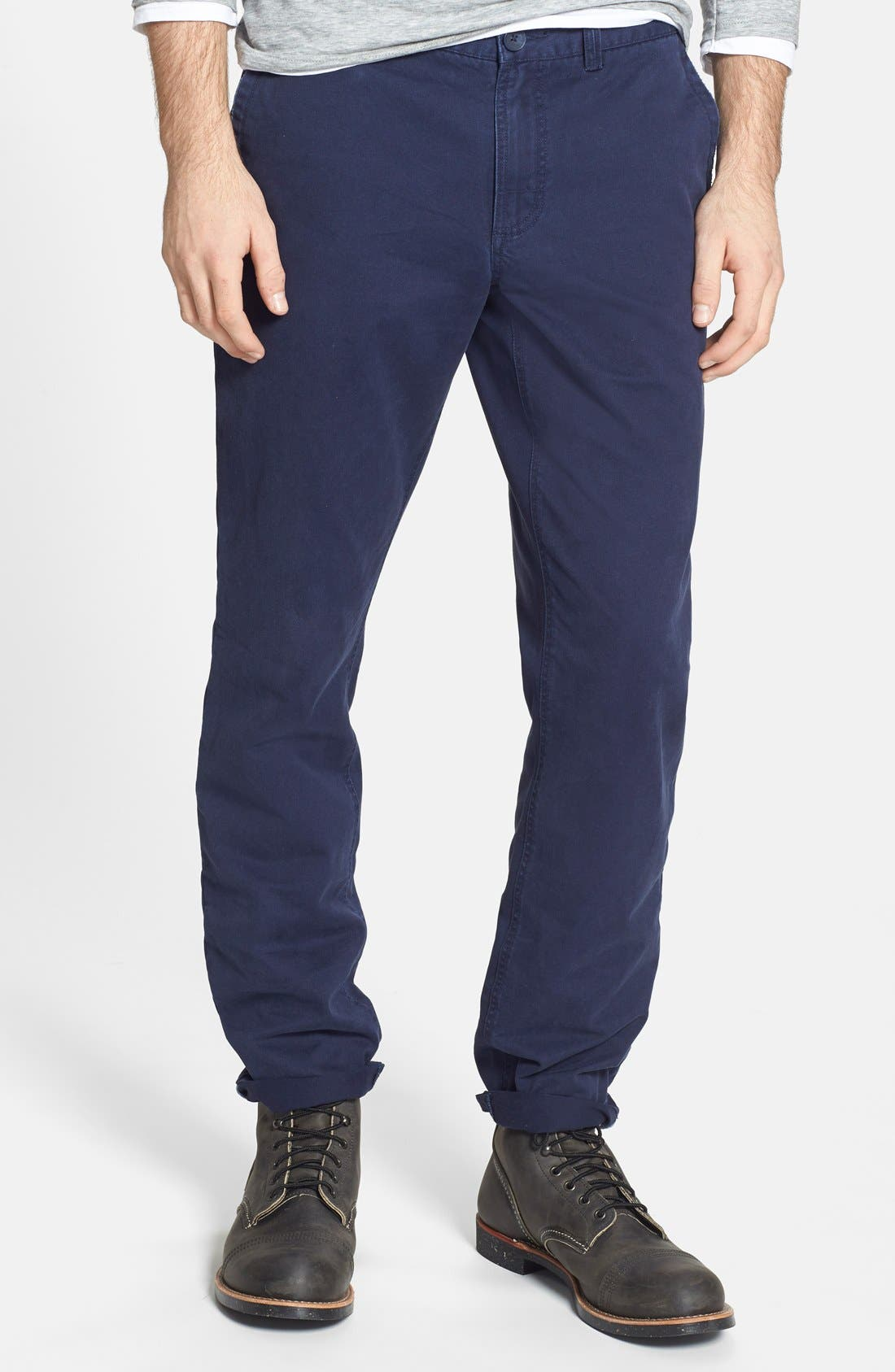 Alternate Image 1 Selected - 1901 Slim Fit Washed Chinos