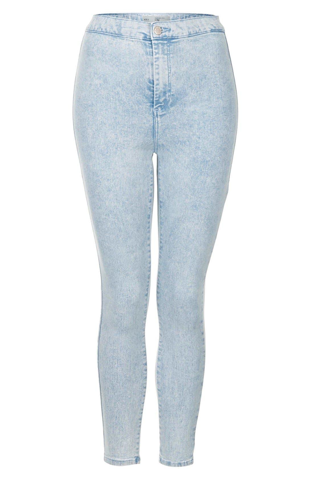 Alternate Image 3  - Topshop 'Joni' Mottled Ultra Skinny Jeans (Bleach Stone)