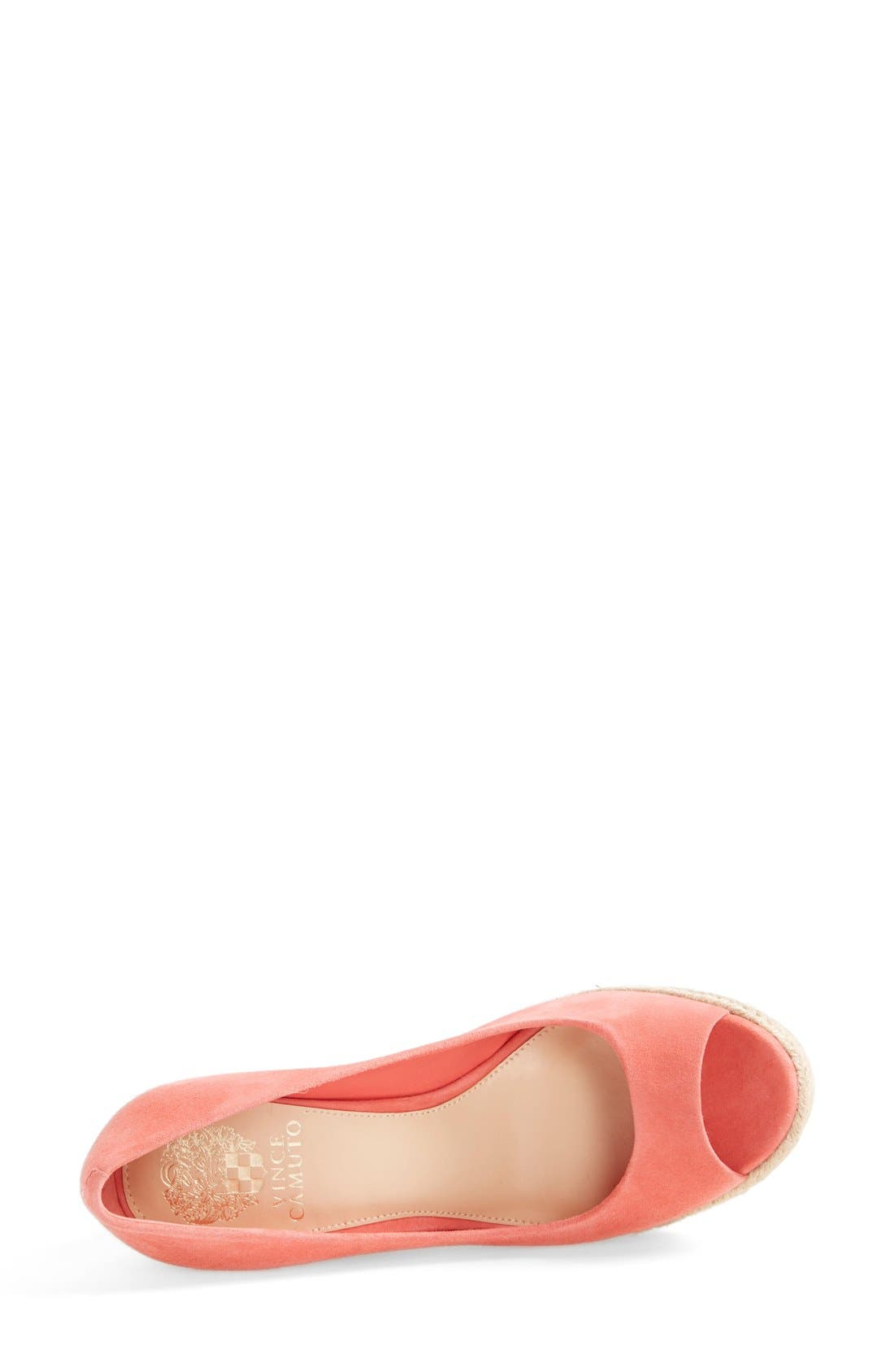 Alternate Image 3  - Vince Camuto 'Totsi' Peep Toe Espadrille Wedge (Women)
