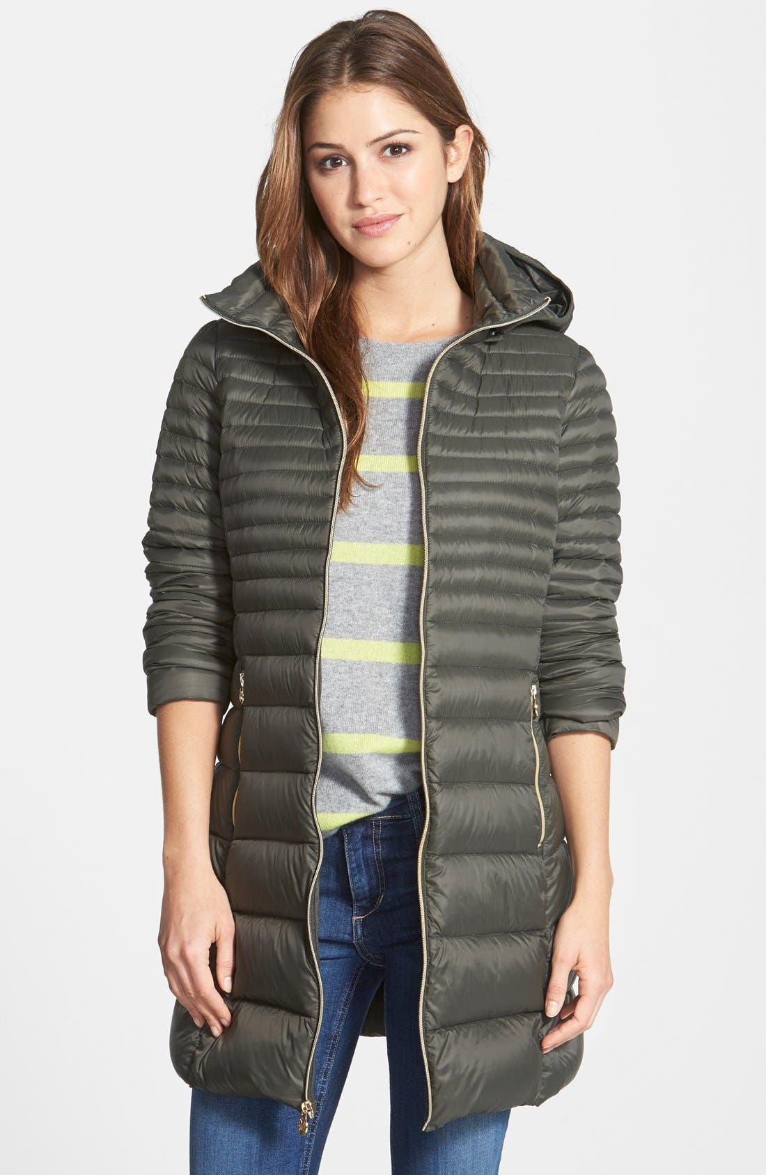 Alternate Image 2  - MICHAEL Michael Kors Packable Hooded Down Coat (Online Only)