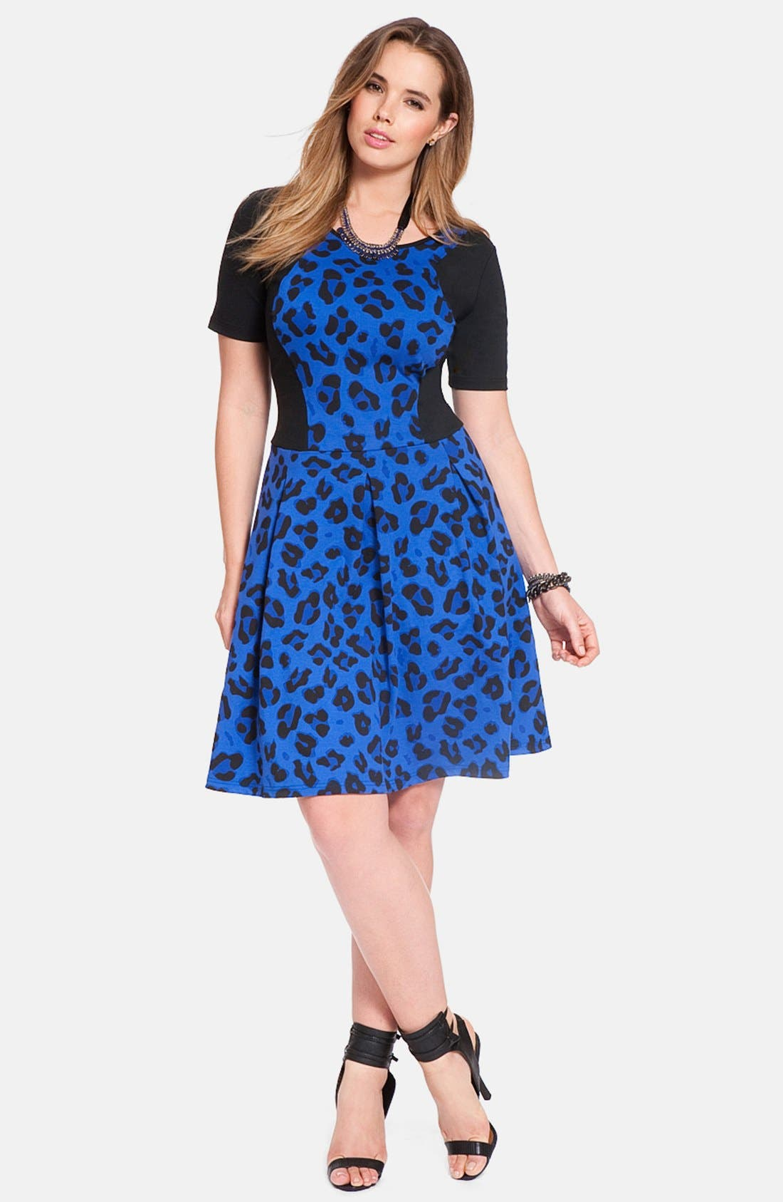 Alternate Image 3  - ELOQUII 'Curvy' Cheetah Print Fit & Flare Dress (Plus Size) (Nordstrom Exclusive)