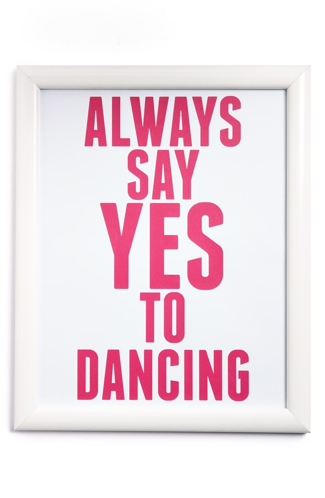 Alternate Image 1 Selected - Canton Box Co. 'Always Say Yes To Dancing' Wall Art