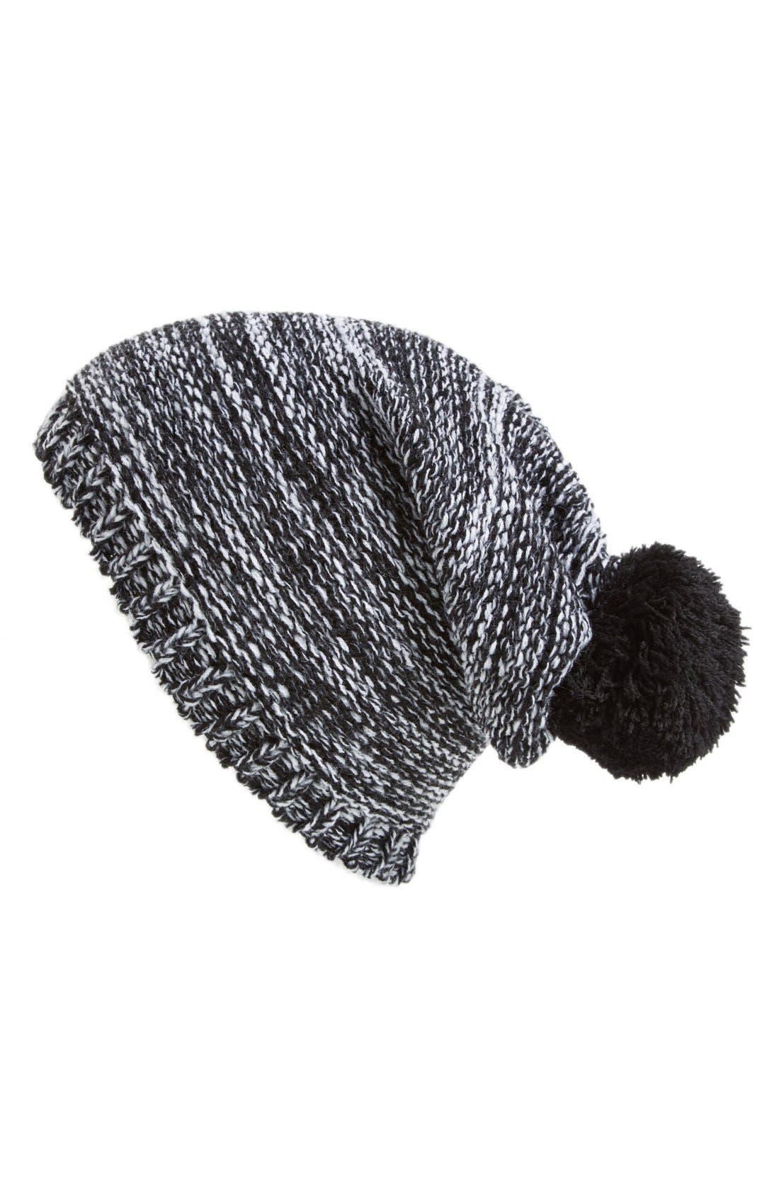 Alternate Image 1 Selected - Capelli of New York Marled Knit Beanie (Juniors)