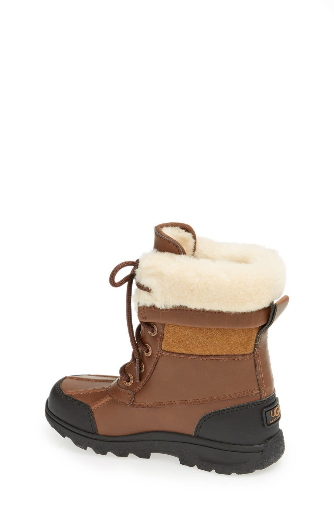 Alternate Image 2  - UGG® 'Butte II' Waterproof Leather Boot (Little Kid & Big Kid)