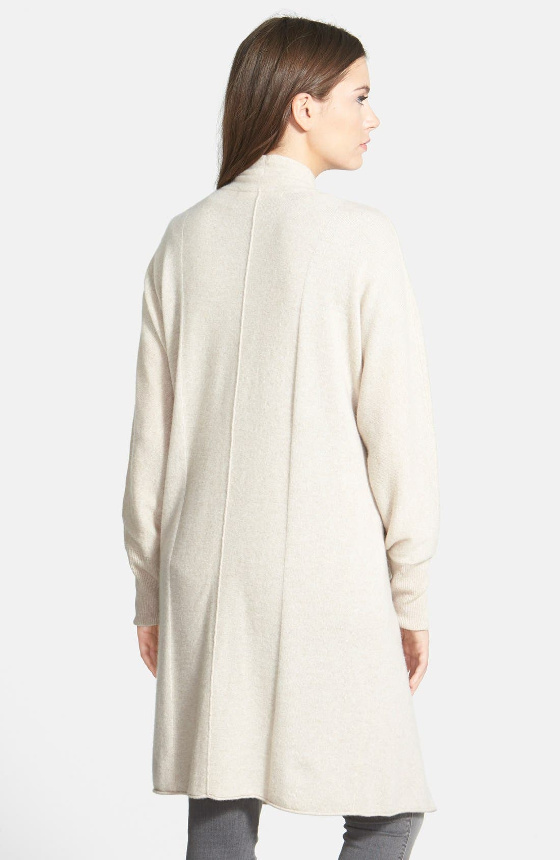 Alternate Image 2  - Nordstrom Collection Dolman Sleeve Long Cashmere Cardigan