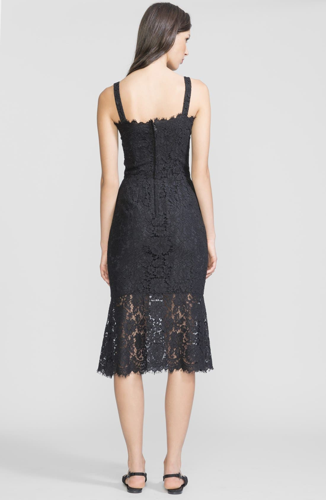 Alternate Image 2  - Dolce&Gabbana Lace Tank Midi Dress