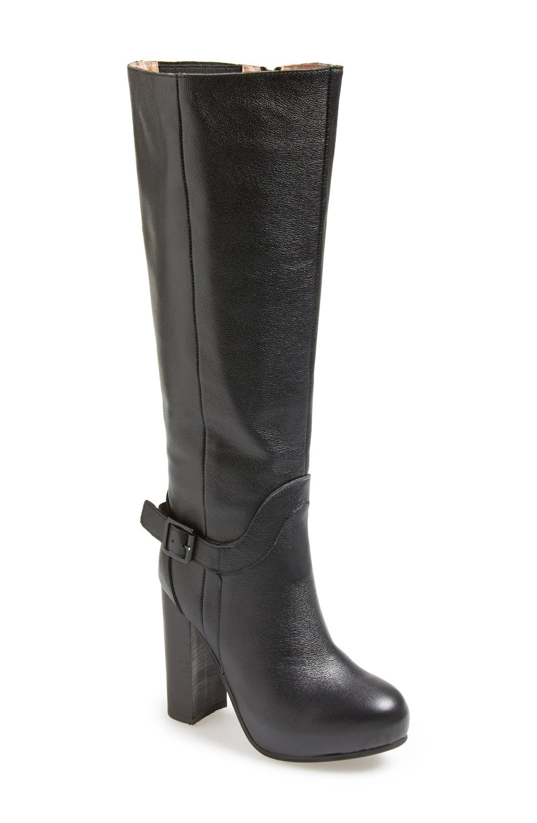 Alternate Image 1 Selected - Jeffrey Campbell 'Tenor' Knee High Leather Boot (Women)
