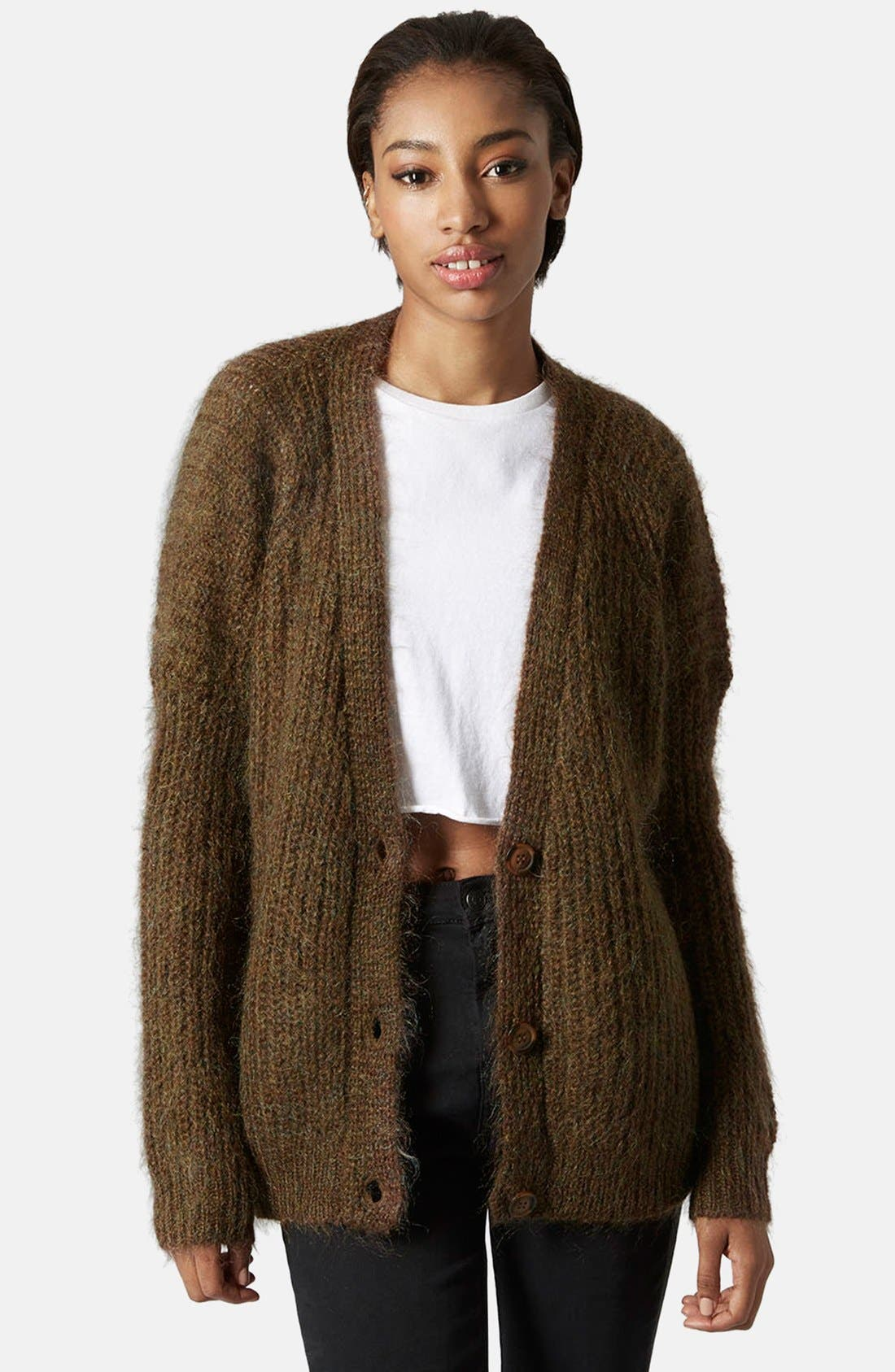 Main Image - Topshop Luxe Cocoon Cardigan