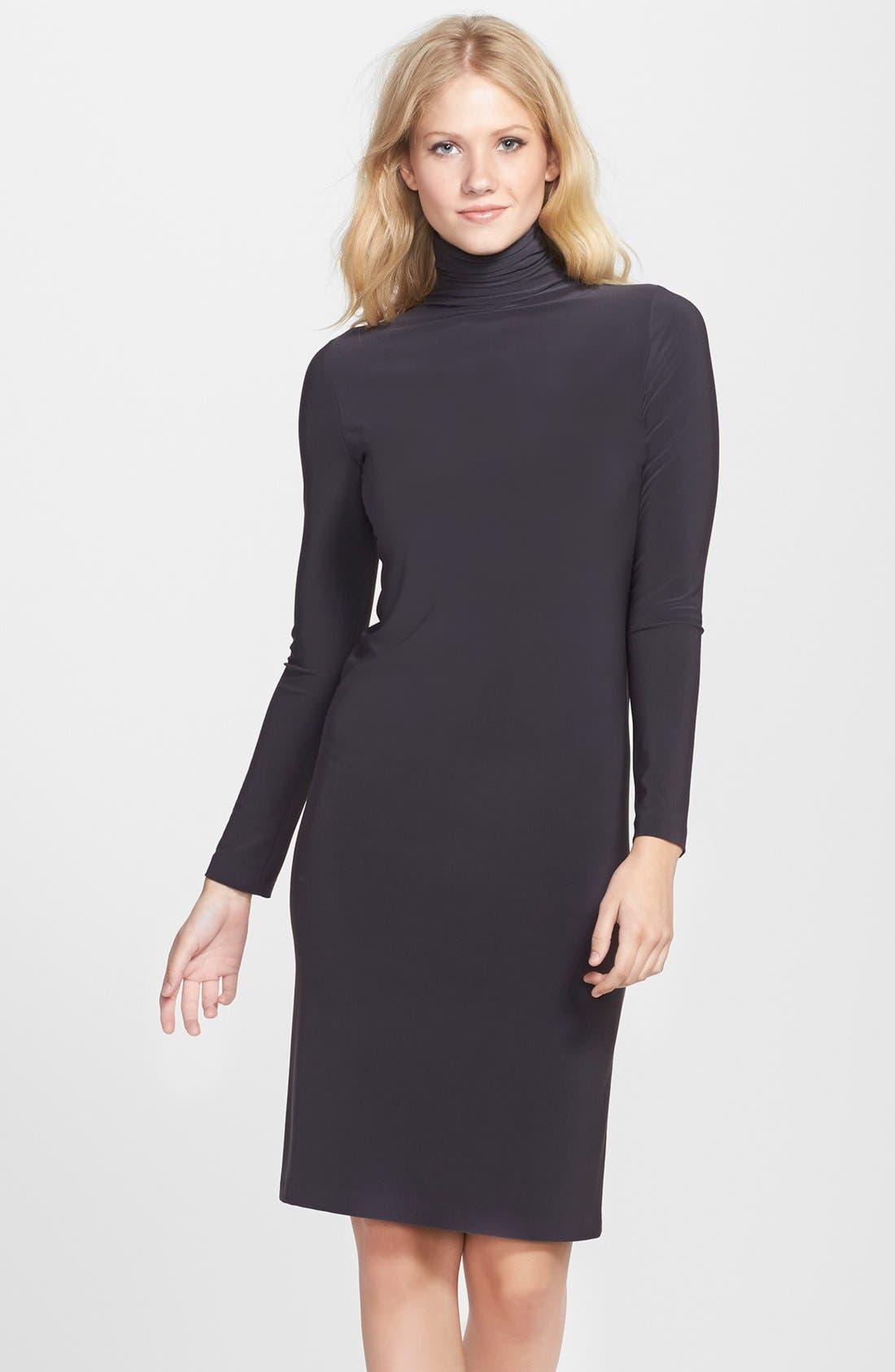 Alternate Image 1  - KAMALIKULTURE Turtleneck Jersey Shift Dress