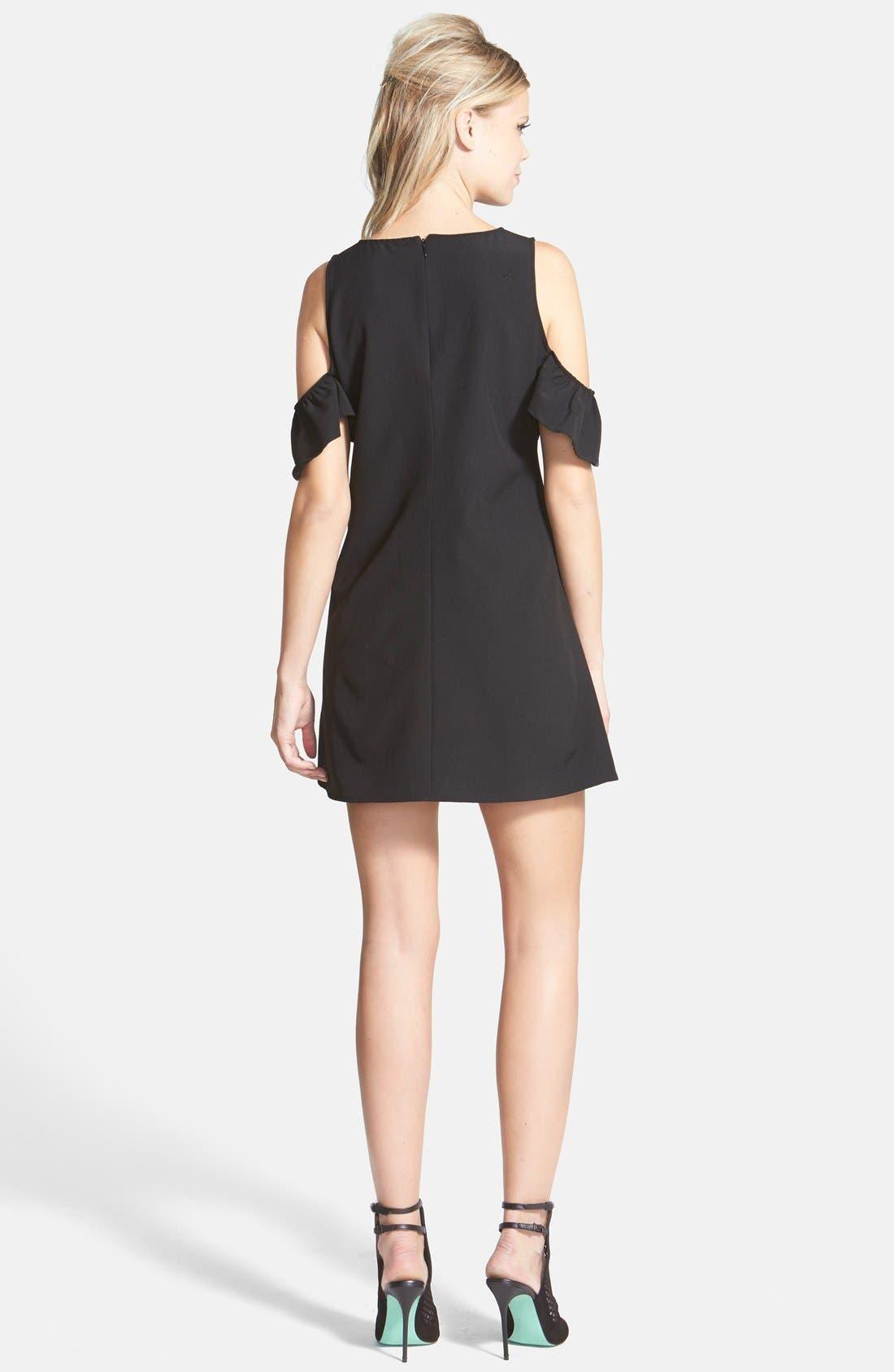 Alternate Image 2  - June & Hudson Cold Shoulder Shift Dress