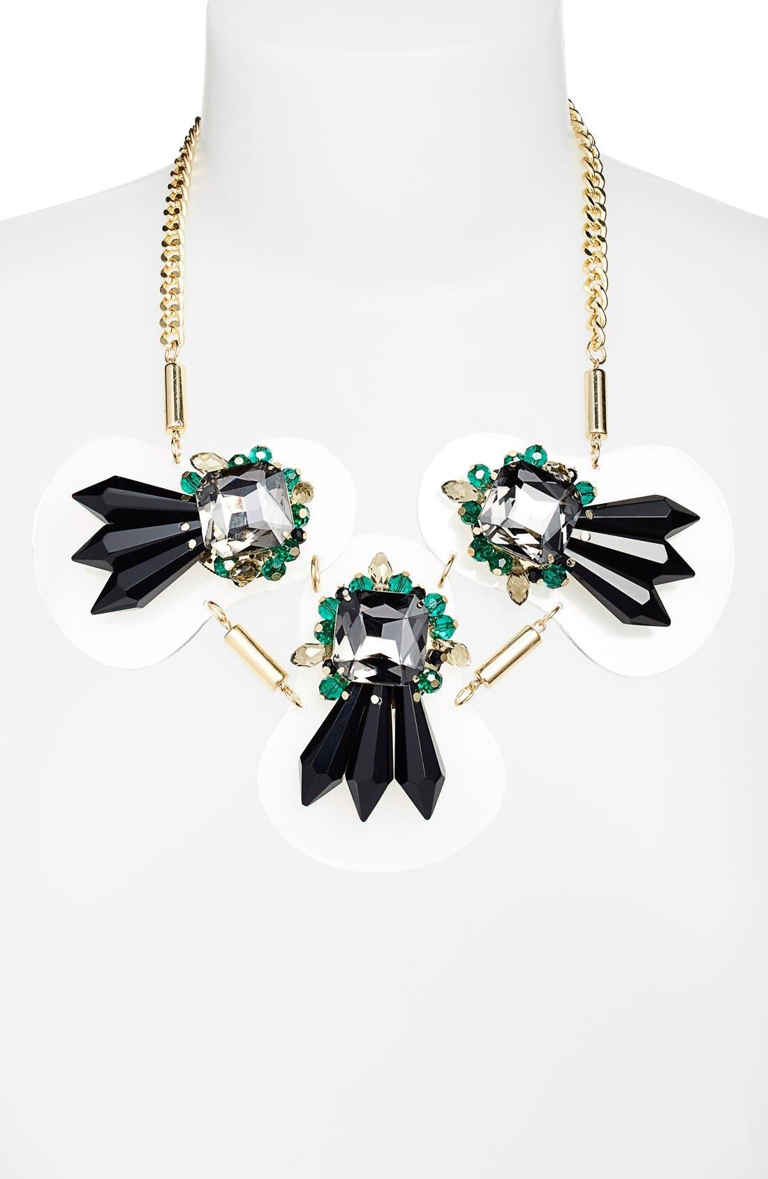 Alternate Image 2  - Adia Kibur Art Deco Crystal Necklace