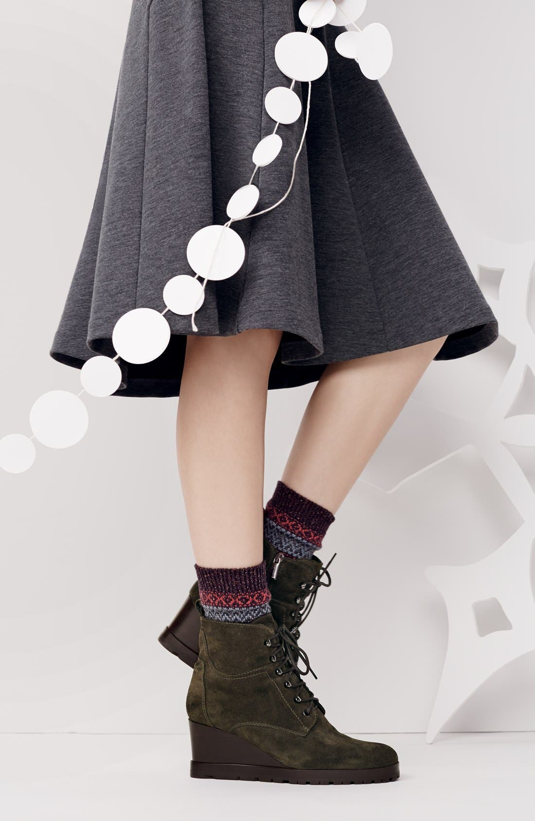 Alternate Image 5  - Aquatalia by Marvin K. 'Chance' Suede Wedge Bootie (Women)