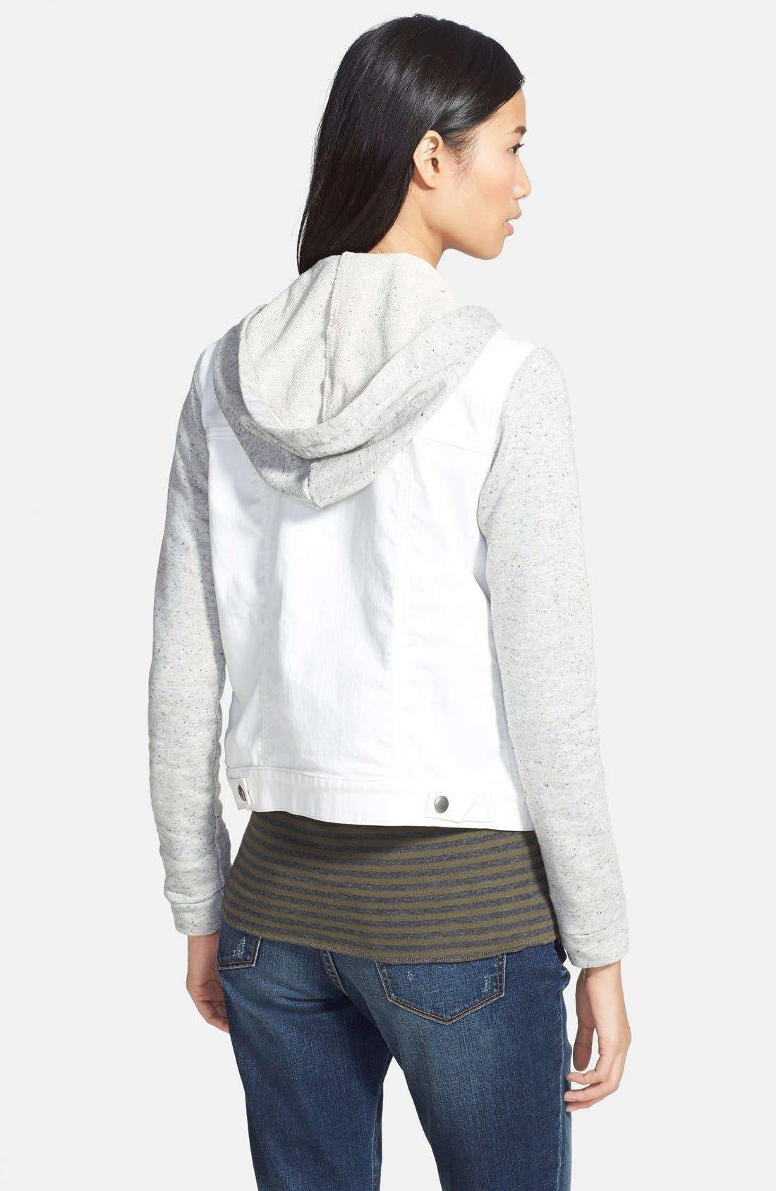 Alternate Image 2  - Hinge Mixed Media Hooded Jacket