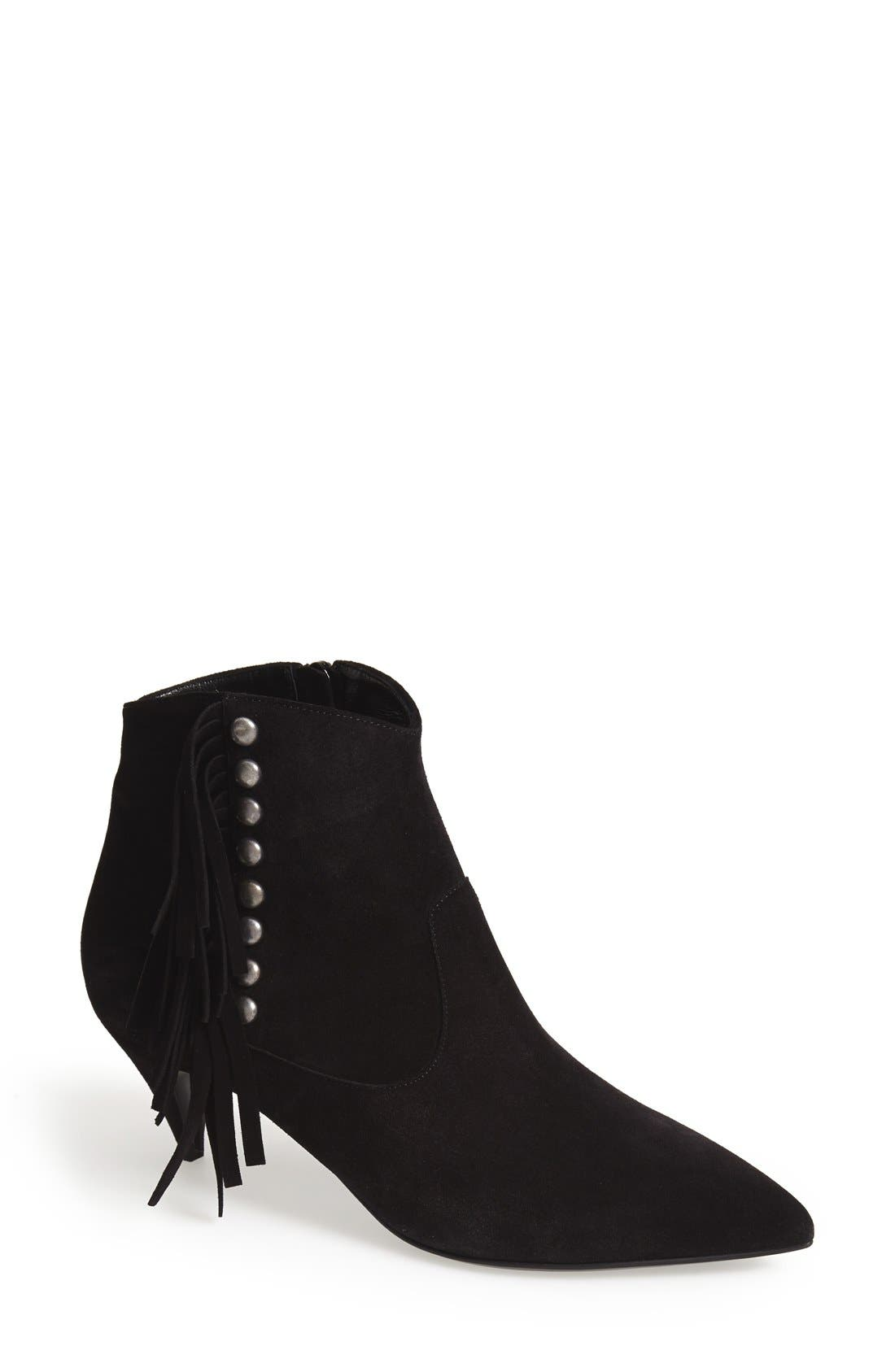 Alternate Image 1 Selected - Saint Laurent 'Cat' Fringe Pointy Toe Bootie (Women)