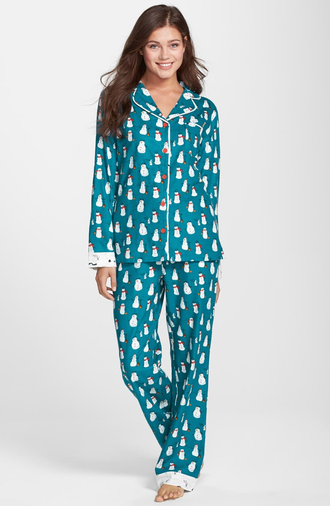 Alternate Image 1 Selected - Munki Munki Flannel Pajamas