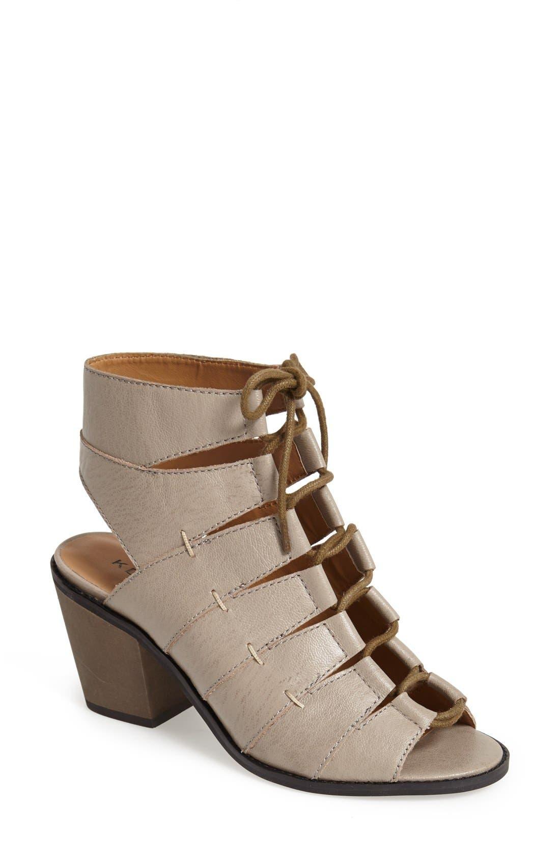 Alternate Image 1 Selected - Kelsi Dagger Brooklyn 'Katreena' Leather Open Toe Bootie (Women)