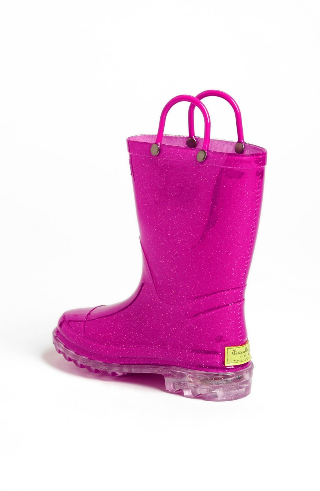 Alternate Image 2  - Western Chief Light-Up Glitter Rain Boot (Toddler & Little Kid)