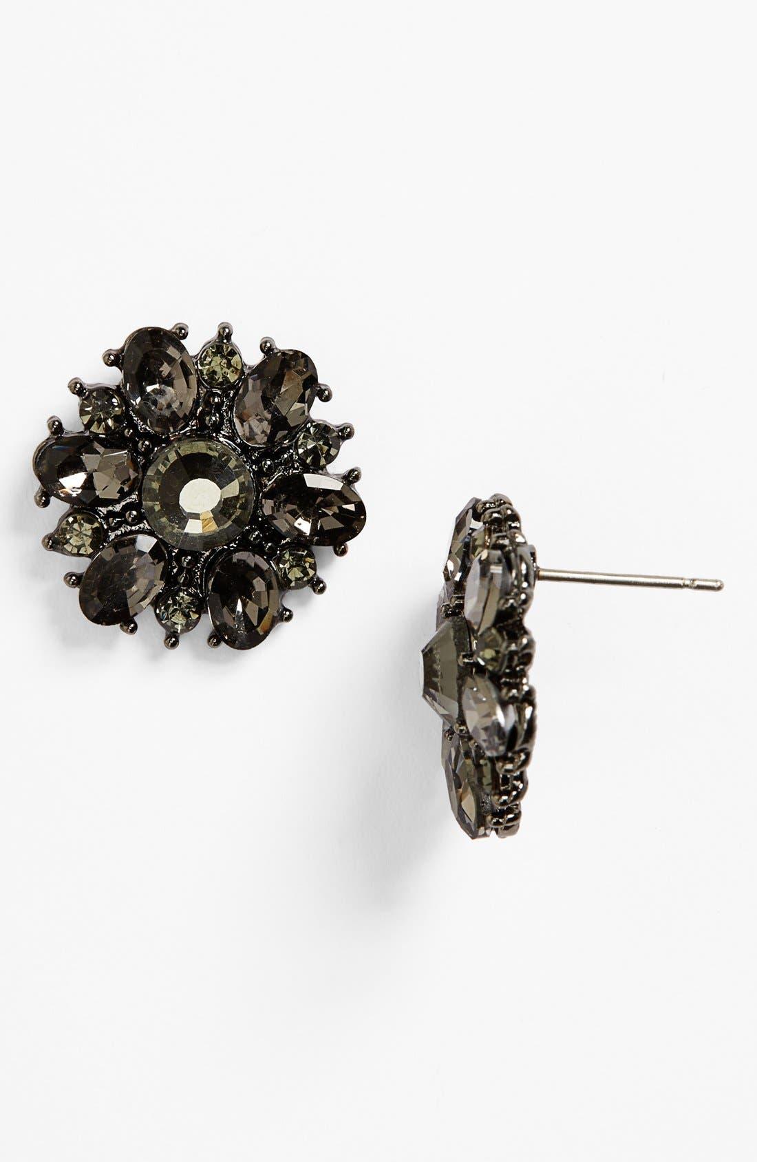 Alternate Image 1 Selected - BP. Crystal Flower Stud Earrings