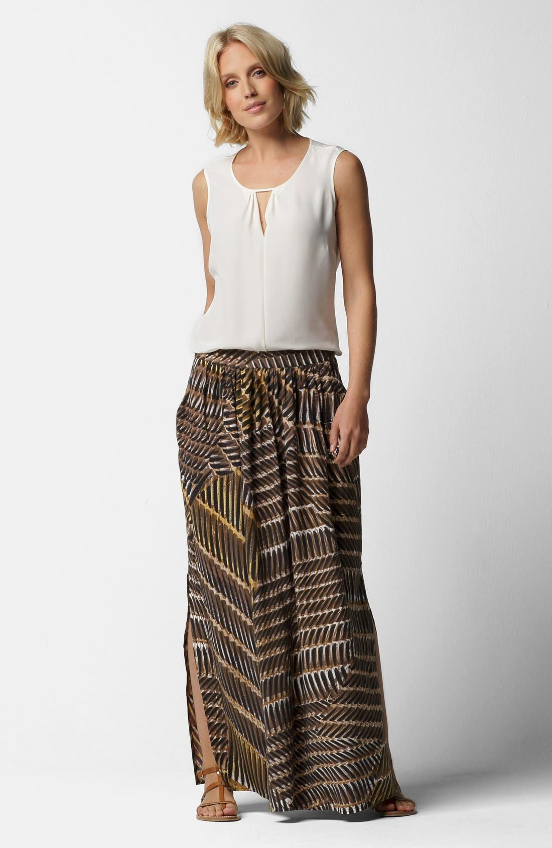 Alternate Image 4  - NIC+ZOE 'Between the Lines' Maxi Skirt (Regular & Petite)